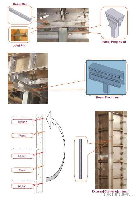 Aluminum Formwork  System in One-time Pouring