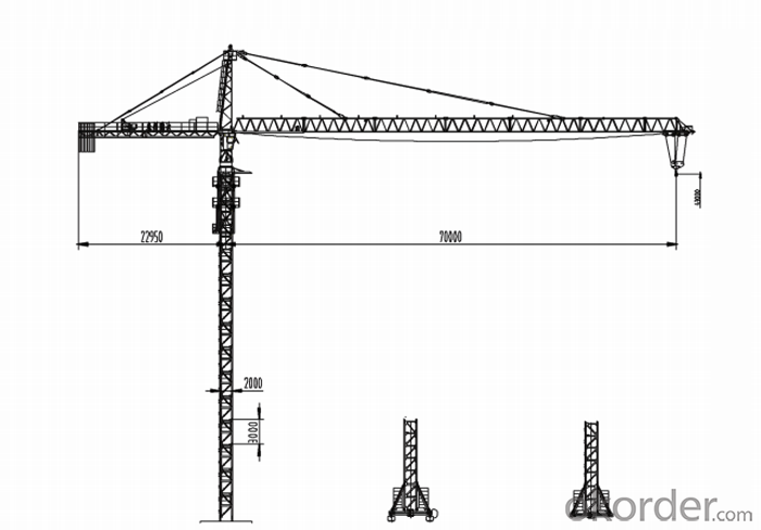 CMAX tower crane with CE ISO certificate QTZ315