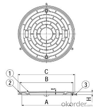 Manhole Cover made in China Round Ductile Iron Sand Casting