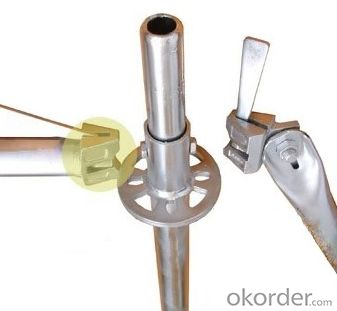 Scaffolding Ringlock Vertical Easy Assembly Top Quality Metal