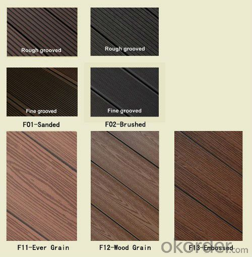 WPC decking/high density HDPE wood plastic composite