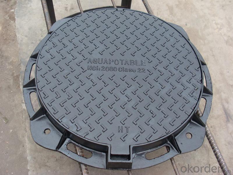 Manhole Cover D400 Sand Casting EN124 Ductile Iron high quality