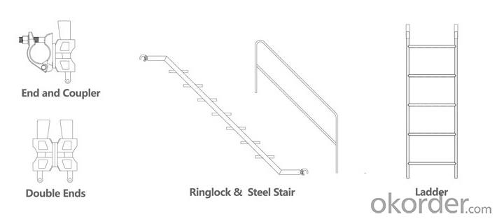 Ringlock Scaffold Diagonal Brace Easy Assembly Top Quality Metal