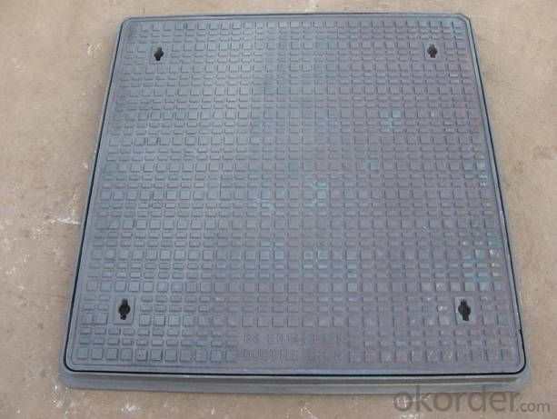 Manhole Cover EN124 C250 600X600mm Composite  and Frame