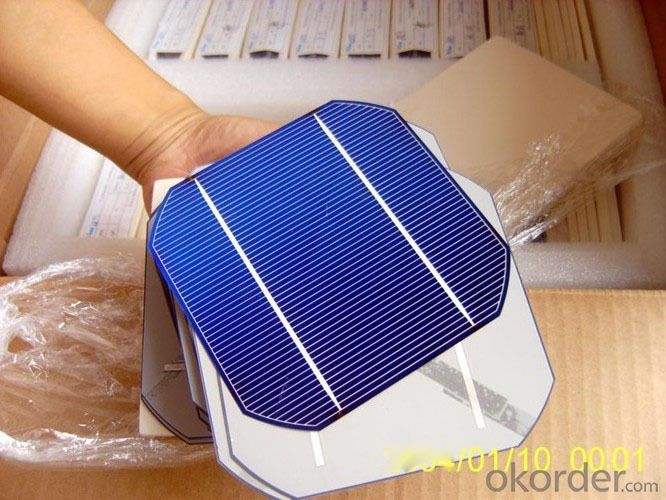 125 mono solar cell, 5 inch mono solar cell, efficiency 18.6-22.87, 2.85w-3.5W