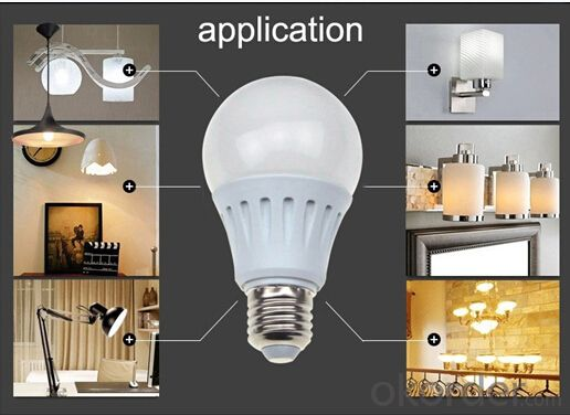 LED Bulb Light A60 8W 10W 12W E14 Aluminum+Plastic