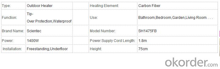 Outdoor Heater SH1265E Wholesale Carbon Fiber Outdoor Heater Buy  Outdoor Heater at Okorder