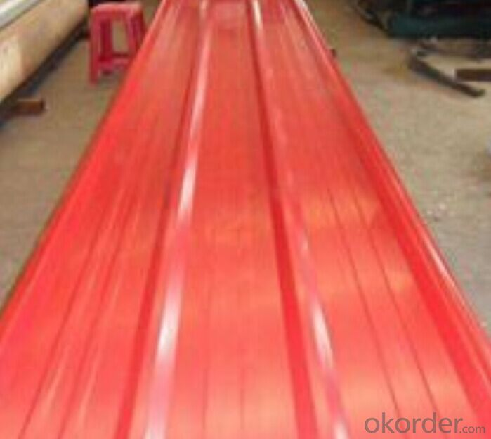 Color Corrugated  coated Galvanized Steel sheet WithHot Selling  Different Color