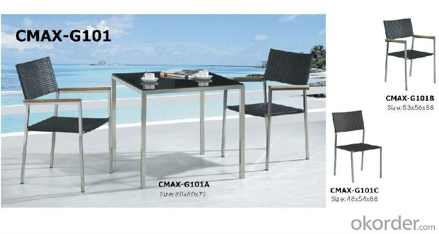 3 pcs Bistro Set for Outdoor Furniture CMAX-G101