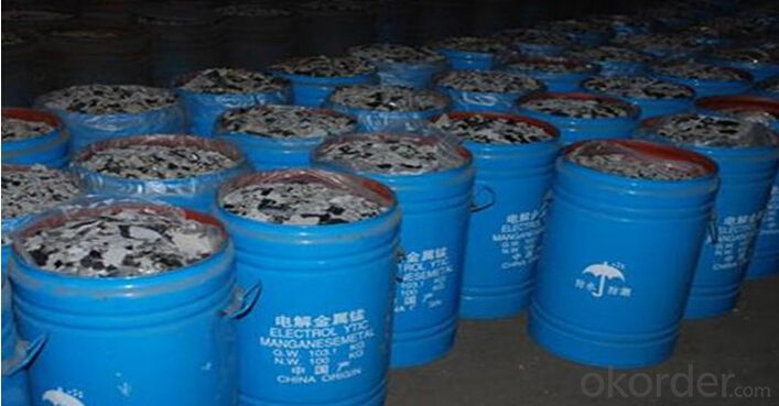 Electrolytic Manganese METAL Flakes EMM 99.7% Content