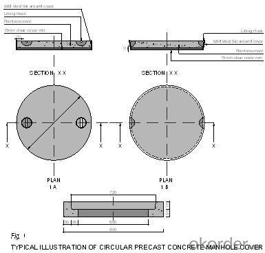 Manhole Cover Ductile Cast Iron Anti Theft EN124 E600