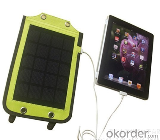 Solar Charger Bag with 2.4W 6V400MAH Outdoor  Package