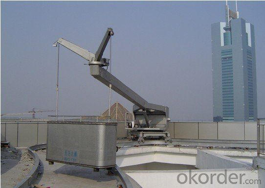 200m 9.0m / min CDGB Swing Arm Rail Mounted Window Cleaning Platform