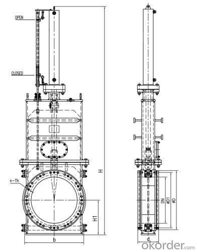 Butterfly Valve DN150 Turbine Type BS 4531