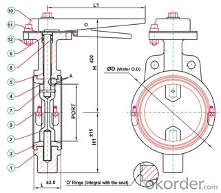 Butterfly Valve DN650 BS5163 Good Price Guranteed Quality