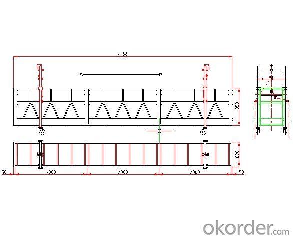 Moveable End Stirrup Suspended Working Platform ZLP630 ZLP800 ZLP1000