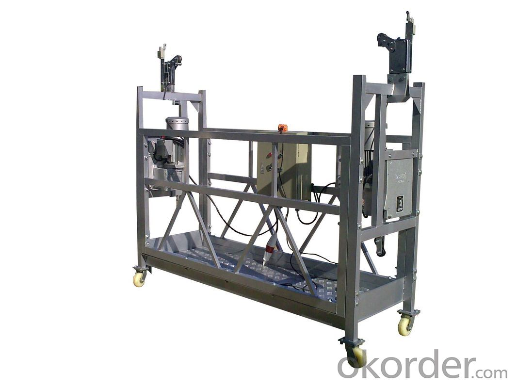 Aluminum Suspended Working Platform 50Hz 3 Phase ZLP500 With 2 Aluminum Alloy Platform