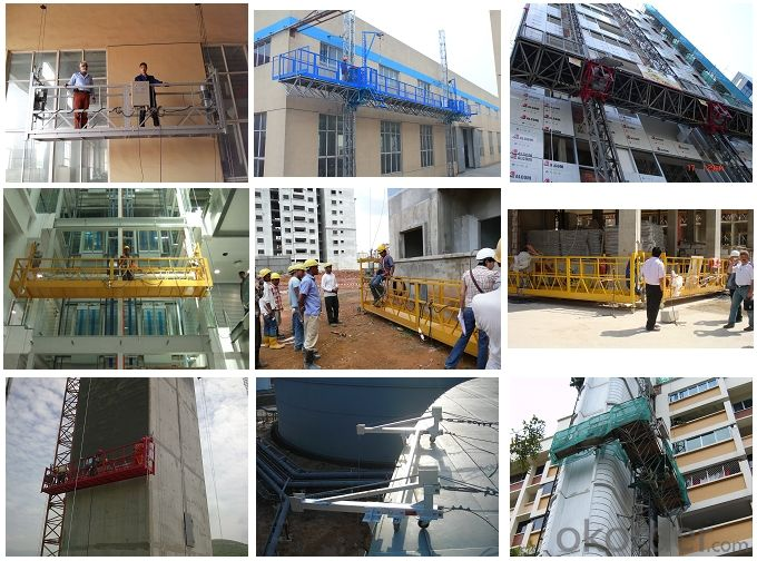 ZLT250 250kg Steel Wire Rope Suspended Elevators Installation Platform