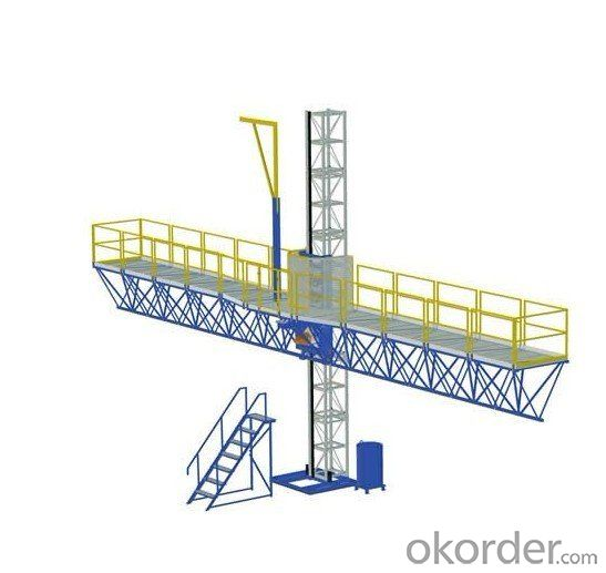 Single Mast Climbing Work Platform with Balance Device 2×5.5 kW Power