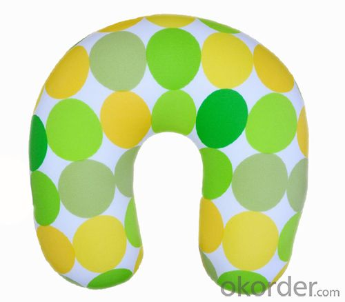 Nice Neck Cushion With Colorful Black And White Line Pattern