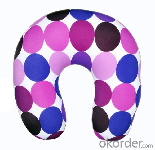 Nice Travel Cushion With Colorful Point Pattern