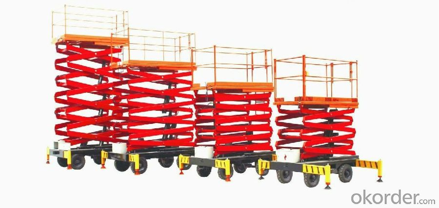 500 kg 1550 - 9000 mm Elevated Aerial Work Platform 380V / 50Hz