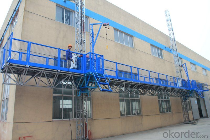 Mast Climbing Work Platform for Working Height 100 m