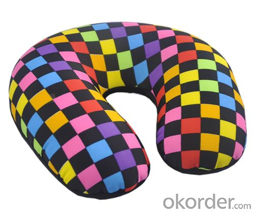 Most Comfortable Beads Pillow With Coloful Line Pattern