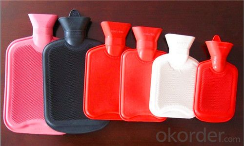 Europe Standard Hot Water Bottle 2000ml 1 or 2 Side Rip