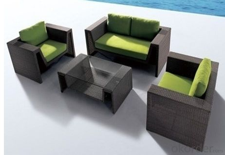 Aluminum PE Wicker Rattan Outdoor Furniture Table Set