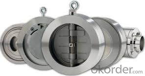 Swing Check Valve Wafer Type Double Disc Body Material CF8C