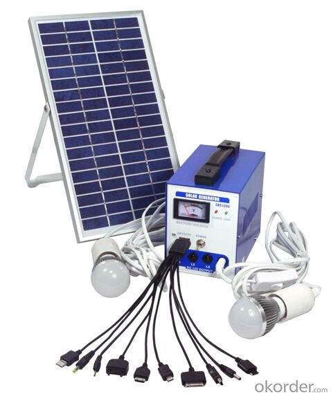 4Ah/ 6W Solar Home System for Lighting Model SHS1206