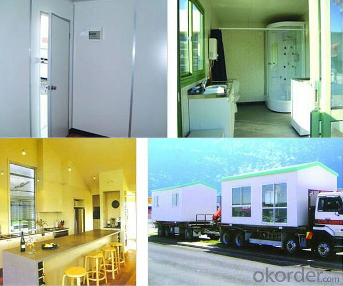 Rockwool Sandwich Panel Building Prefabricated Light Steel Frame House/75mm EPS