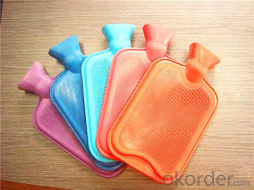 Nature Rubber Hot Water Bottle 2000ml 2 Side Rip