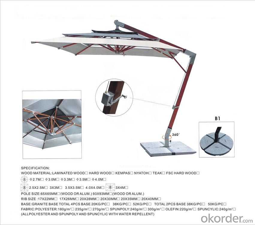 Outdoor Umbrella/Garden Umbrella Manufacturer