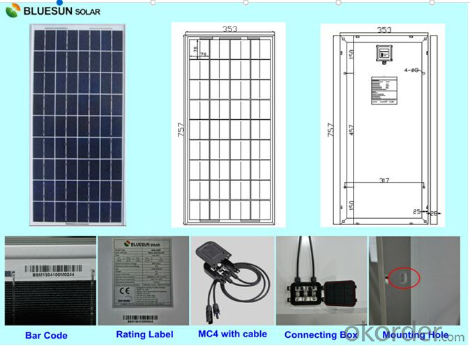 Polycrystalline silicon Solar Modules 30Watt