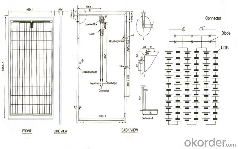250w Monocrystalline Solar Panel Pv Module With High Quality