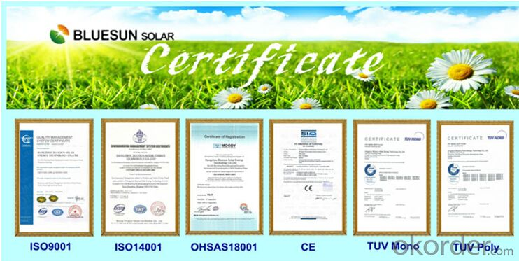 Monocrystalline silicon Solar Modules 110Watt