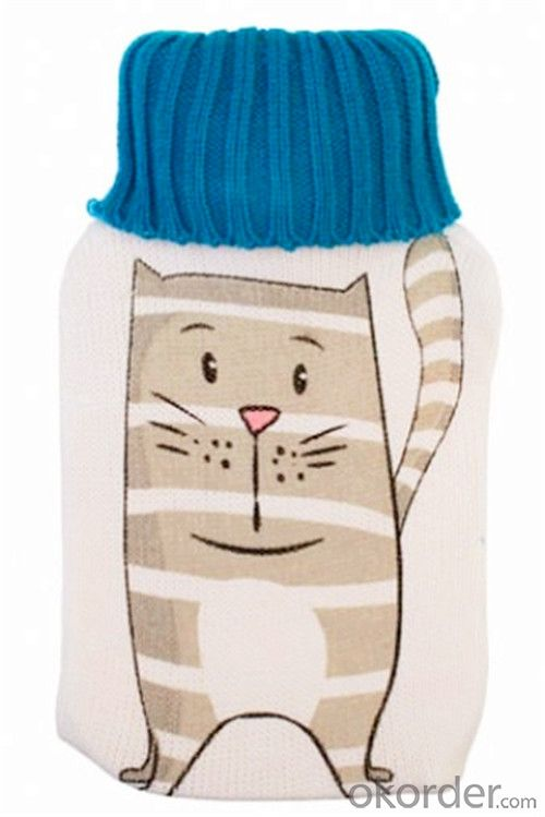 Cartoon Hot Water Bottle Cover for Hot Water Bottle 2000ml 2 Side Rip