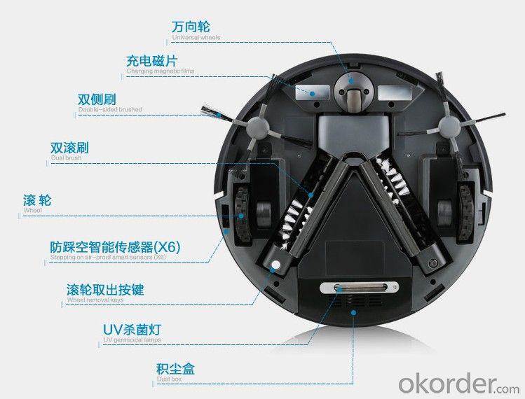 2014 Hottest Products QQ5 Vacuum Cleaner Robot Cleaner Mini Cleaner