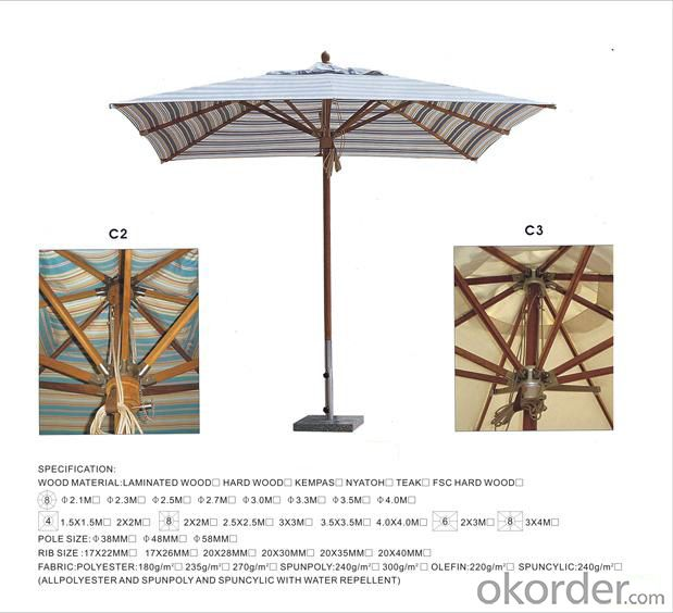 Big Outdoor Umbrella Square Umbrella 300 mm