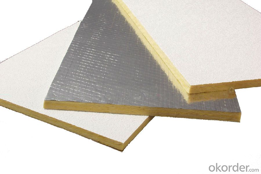 heat insulation can be coated with aluminum foil glass wool felt
