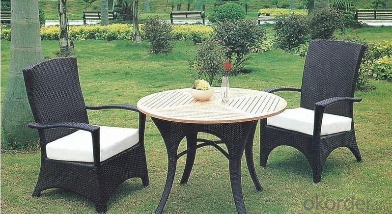 Aluminum Wicker Rattan Outdoor Garden Table Set