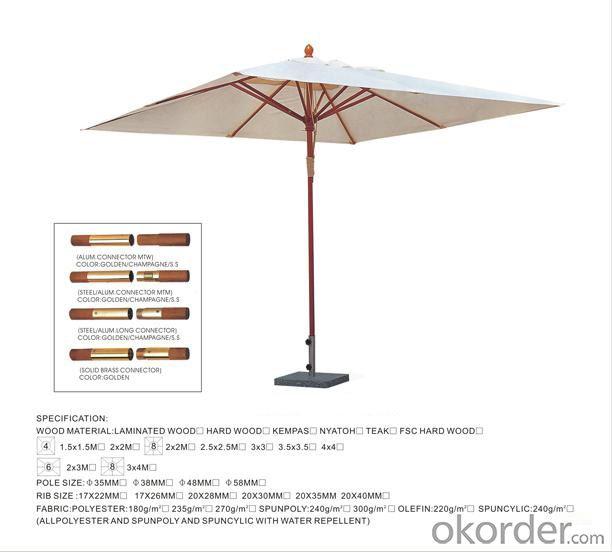 High Quality Waterproof Garden Outdoor Umbrella
