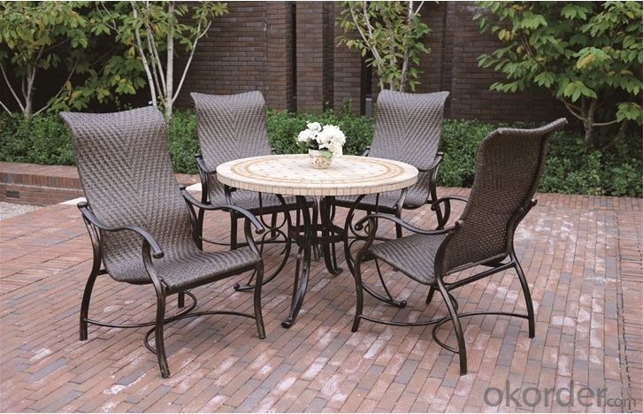 Square Cast Aluminum Dining Table Garden Table