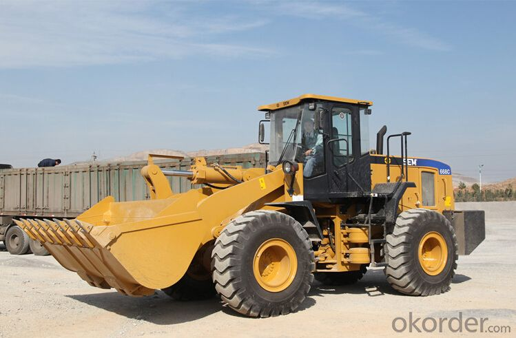 6 ton CE Approved Wheel Loader with Quick Coupler