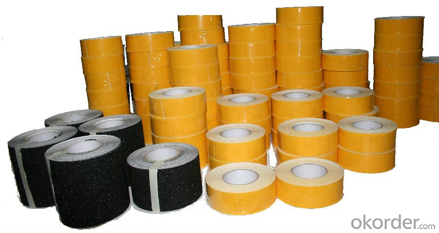 Anti-slip Tape with PVC and PP Carrier Material Made in China with High Tensil Strengh