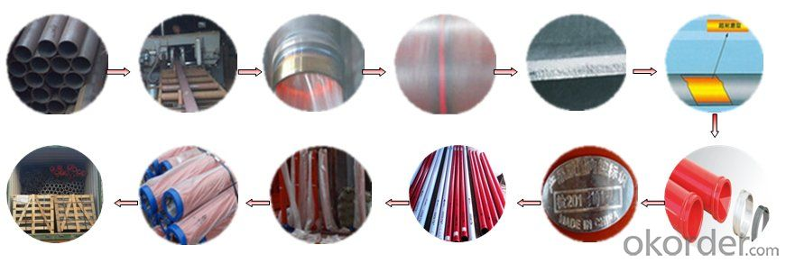3M Seamless Delivery Pipe for Concrete Pump Thickness 4.5mm