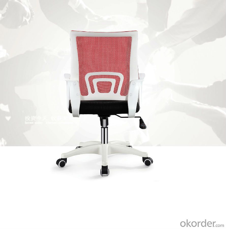ZHSMC-02 Swivel Office Chair with Black Armrest and Green mesh Backrest