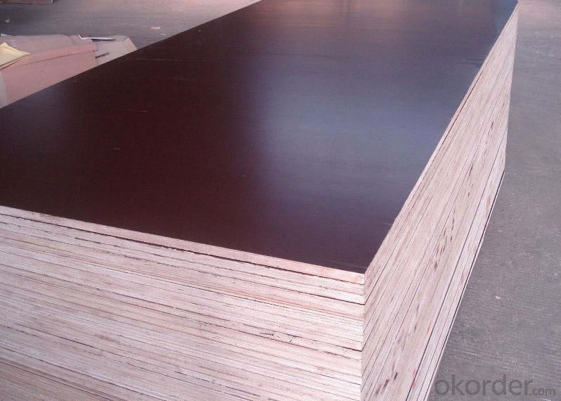 Black Film Faced Plywood Hardwood Core Phenolic Glue Water Boiled Proof